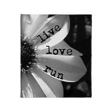 Live Love Run by Vetro Jewelry & Des Throw Blanket