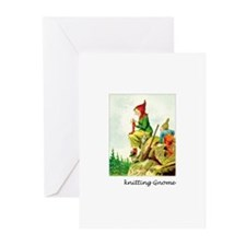 Knitting Gnome Greeting Cards (Pk of 10)