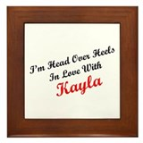 In Love with Kayla Framed Tile