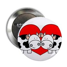 Love Cows (red) Button