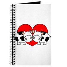 Love Cows (red) Journal