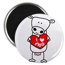 "I Love Moo 2.25"" Magnet (10 pack)"