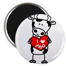"I Love Moo Cow 2.25"" Magnet (10 pack)"