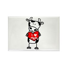I Love Moo Cow Rectangle Magnet (10 pack)