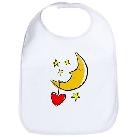 Moon and Heart Bib