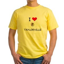 I Love TAYLORVILLE Illinois T-Shirt
