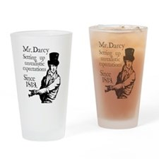 Mr. Darcy close up Drinking Glass