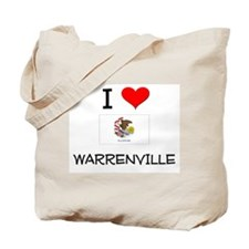 I Love WARRENVILLE Illinois Tote Bag