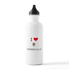 I Love WARRENVILLE Illinois Water Bottle