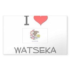 I Love WATSEKA Illinois Decal
