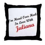 In Love with Juliana Throw Pillow