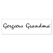 Gorgeous Grandma Bumper Bumper Sticker