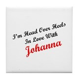 In Love with Johanna Tile Coaster