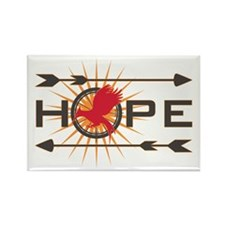 Catching Fire Hope Rectangle Magnet