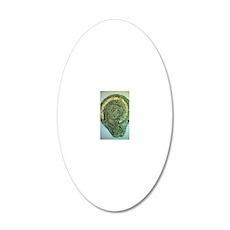 Madonna (Byzantine icon) 20x12 Oval Wall Decal