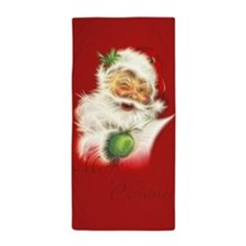 Fractal Santa Beach Towel