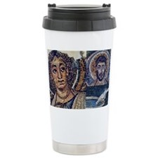 Byzantine mosaic collage Ceramic Travel Mug