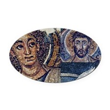 Byzantine mosaic collage Oval Car Magnet