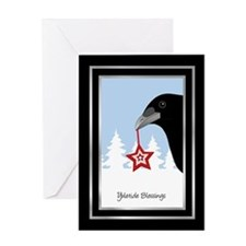 Yuletide Crow Greeting Card