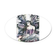Unique Fairy Oval Car Magnet