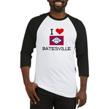 I Love BATESVILLE Arkansas Baseball Jersey