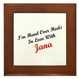 In Love with Jana Framed Tile