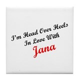 In Love with Jana Tile Coaster