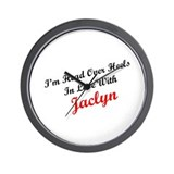 In Love with Jaclyn Wall Clock