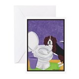 &quot;The Toilet&quot; Beagle Dog Greeting Cards(Pack of 6)