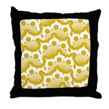 Doily Mustard Throw Pillow