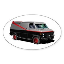 Retro Van. Oval Decal