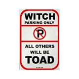 Witch Parking only Rectangle Magnet