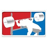 VINTAGE BENCH PRESS Rectangle Decal