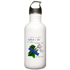 Roses and Nightlock Ca Water Bottle