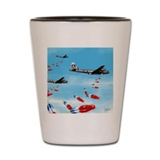 WWII Air Corp B-29 Bombing Pops Shot Glass