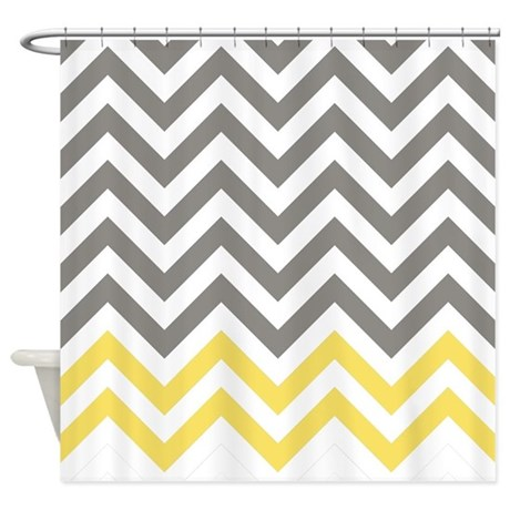 Chevron gifts gt chevron bathroom d 233 cor gt gray and canary yellow