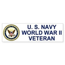 U. S. Navy <BR>World War II Vet<BR>Bumpersticker