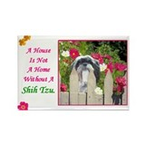 Shih Tzu (Black & White) Rectangle Magnet (10 pack