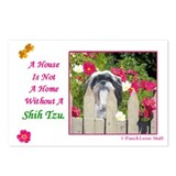 Shih Tzu (Black & White) Postcards (Package of 8)