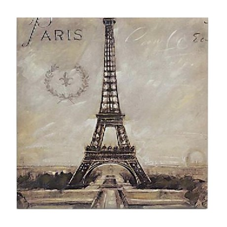 &amp;quot;We'll always have Paris&amp;quot; Tile Coaster