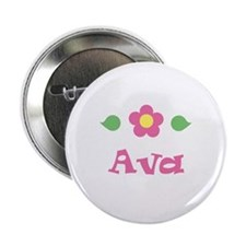 "Pink Daisy - ""Ava"" Button"