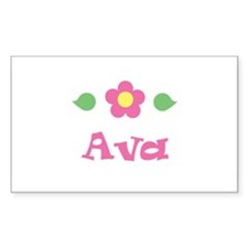 "Pink Daisy - ""Ava"" Rectangle Decal"