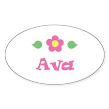 "Pink Daisy - ""Ava"" Oval Decal"