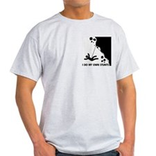 Rock climbing, I Do My Own Stunts Ash Grey T-Shirt