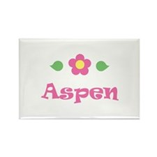 "Pink Daisy - ""Aspen"" Rectangle Magnet"