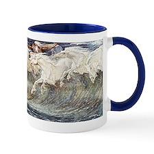 Ocean Waves as Horses - Neptunes Horses Mug