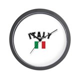 Italian Flag Wall Clock