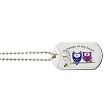 Owlways in my heart Dog Tags