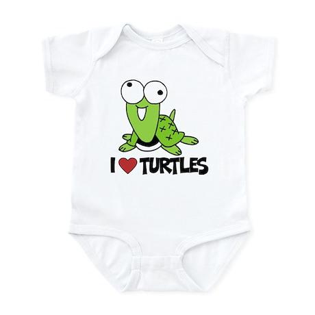 I Love Turtles Infant Bodysuit