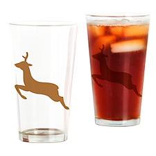 Jumping Deer Silhouette Drinking Glass